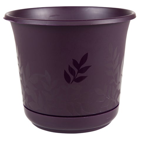 Bloem Freesia 12-inch Exotica Planter with Saucer