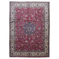FineRugCollection Hand-knotted Semi-antique Persian Kashan Red Wool Oriental Rug (9'6 x 13'2)