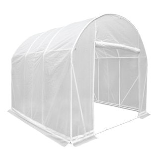 Abba Patio 10 by 10 by 9-Feet Walk in Greenhouse Fully Enclosed Lawn and Garden Portable Outdoor Tent with Windows, White