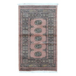 FineRugCollection Hand-knotted Bukhara Tan Wool Oriental Rug (2'5 x 4'2)