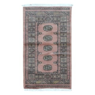 FineRugCollection Hand-knotted Bukhara Tan Wool Oriental Rug (2'5 x 4'2)|https://ak1.ostkcdn.com/images/products/14307251/P20889362.jpg?impolicy=medium