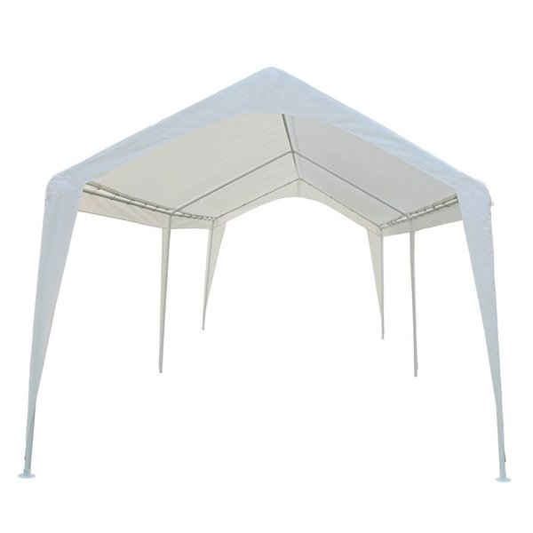 abba patio 10 x 20feet outdoor carport canopy with 6 steel legs white - Carport Canopy