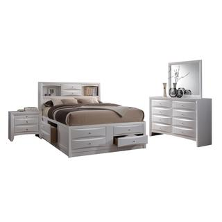 Acme Furniture Ireland 4-Piece Storage Bedroom Set, White