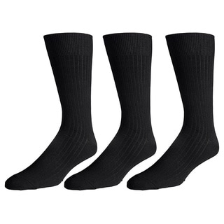 180s Men's Cotton-blend Crew Dress Socks (Pack of 3)