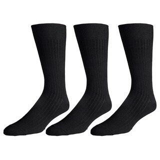 180s Men's Cotton-blend Crew Dress Socks (Pack of 3) (More options available)