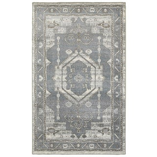 L and R Home Matrix Frost Gray and Silver Indoor Area Rug( 7'9 x 9'5 )