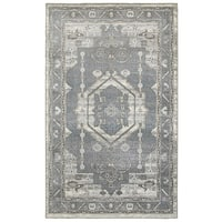 LR Home Matrix Frost Gray / Silver Indoor Area Rug - 7'9 x 9'6