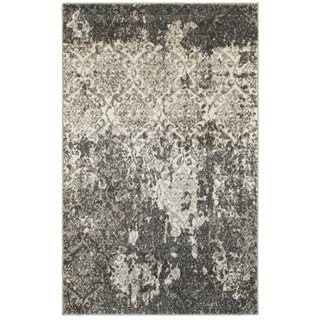 L and R Home Matrix Stone and Silver Blue Indoor Area Rug (5'2 x 7'2)
