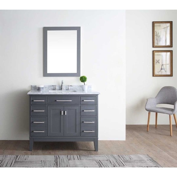 bathroom cabinets grey shop danny maple grey 42 inch single bathroom vanity set 10372