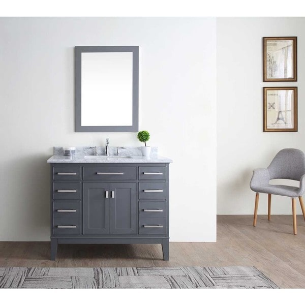 Shop Danny Maple Grey Inch Single Bathroom Vanity Set Free - 42 gray bathroom vanity