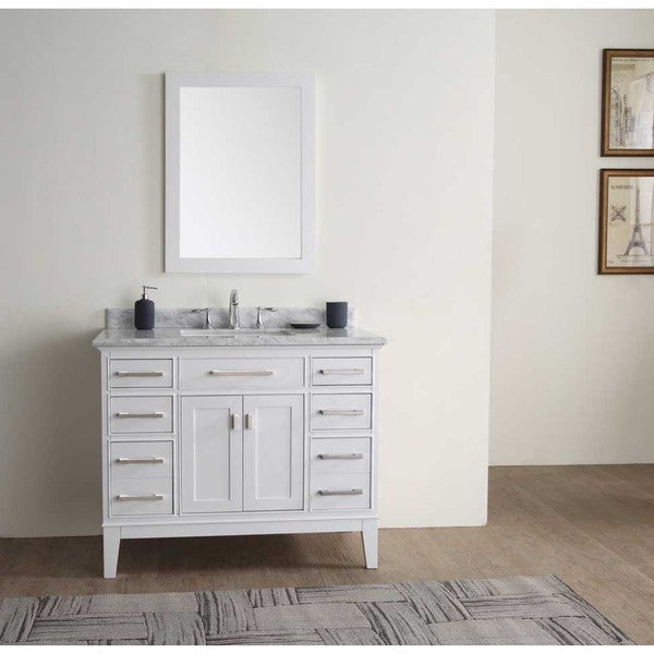 danny white 42inch single bathroom vanity set