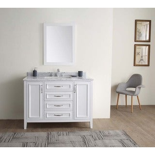 Jude White 48-inch Single Bathroom Vanity Set