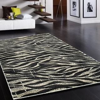 L and R Home Adana White/Anthracit Indooor Area Rug (7'9 x 9'10)