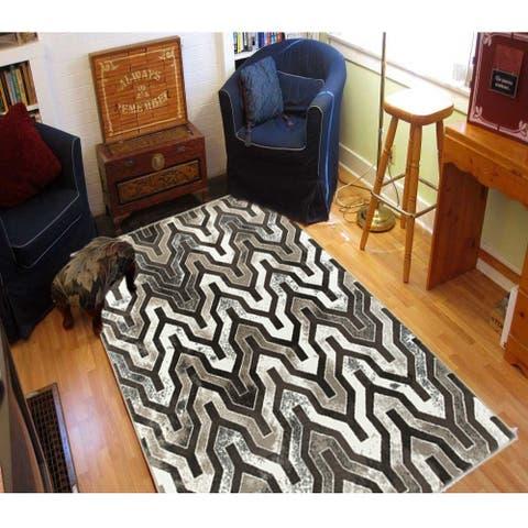 """LR Home Adana Beige / Brown Patterned Indoor Area Rug ( 5'1 x 7'5 ) - 5'1"""" x 7'5"""""""