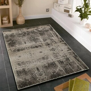 L and R Home Adana White/Beige Indoor area rug (5'1 x 7'5)