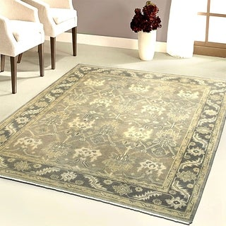 L and R Home Kareena Charcoal and Grey Indoor Area Rug (8' x 10')