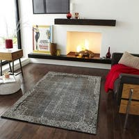 "LR Home Adana Brown / White Distressed Indoor Area Rug - 5'1"" x 7'5"""