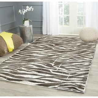 Meticulously Woven Grey Animal Print Abstract Rug 5 2 X 7