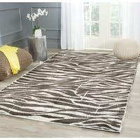 LR Home Adana White / Beige Animal Skin Area Rug ( 5'1 x 7'5 ) - 5'1 x 7'5