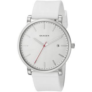 Skagen Men's SKW6345 'Hagen' White Silicone Watch