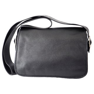 Piel Flap-over Leather Messenger Bag