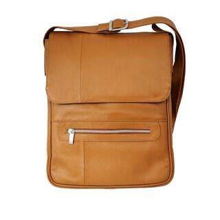 Piel Vertical Leather 15-inch Laptop Messenger Bag