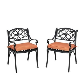 Biscayne Black Pair of Arm Chairs with Cushions by Home Styles