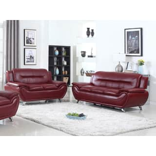 contemporary leather living room furniture. Deliah Relaxing Contemporary Modern Style 2pc Sofa and Loveseat set 3 colors  Living Room Furniture Sets For Less