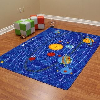Paradise Solar System Blue Color Area Rug