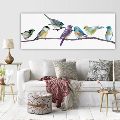 'Colorful Spot' Multicolored Gallery Wrapped Canvas Artwork