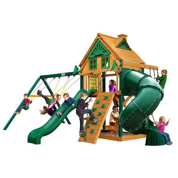 Gorilla Playsets Mountaineer Treehouse w/ Timber Shield