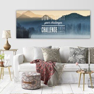 'Challenge Your Limits' Premium Gallery-wrapped Canvas Art (3 Sizes Available)