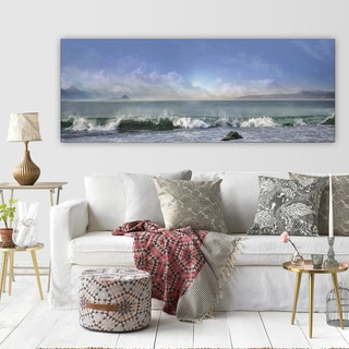 Mike Calascibetta 'Breaking Waves' Premium Gallery-wrapped Canvas Art