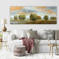 Nan 'Meadow Vista II' Premium Gallery-wrapped Canvas Art (3 Sizes Available)