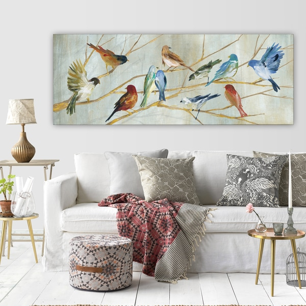 Carol Robinson's 'Spring Migration' Premium Gallery Wrapped Canvas Artwork (3 Sizes Available)