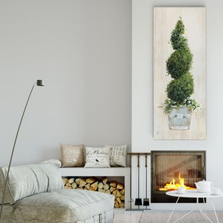 Sally Swatland 'Spiral Topiary' Premium Gallery-wrapped Canvas Art