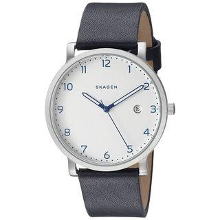 Skagen Men's SKW6335 'Hagen' Blue Leather Watch
