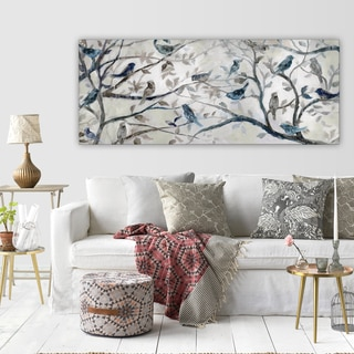 living room wall art canvas wexford home morning chorus gallery wrapped canvas art shop our best goods deals online at overstockcom