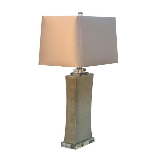 28.75-inch Concave Ceramic Table Lamp