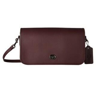 Coach Turnlock Oxblood Leather Crossbody Handbag