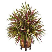 Nearly Natural Multicolored Autumn Grass Arrangement