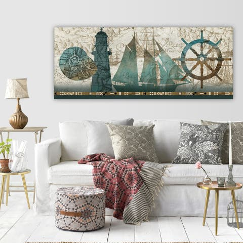 Wexford Home 'Beautiful Sea' Multicolored Gallery Wrapped Canvas Artwork (3 Sizes Available)