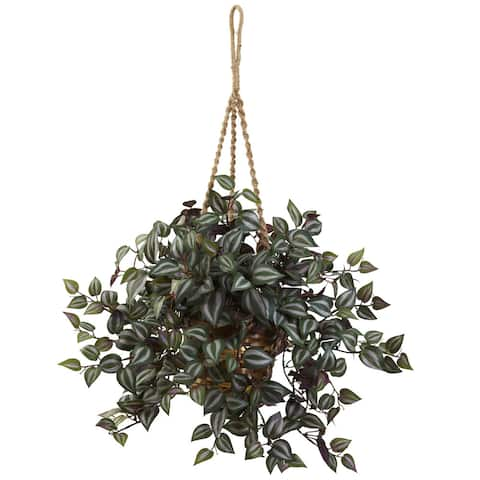 Nearly Natural Wandering Jew Hanging Basket