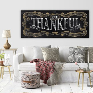 Conrad Knutsen's 'Be Thankful' Premium Gallery-Wrapped Canvas Artwork