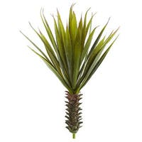 Nearly Natural Faux Spiky Agave Succulent Plant (Set of 2)