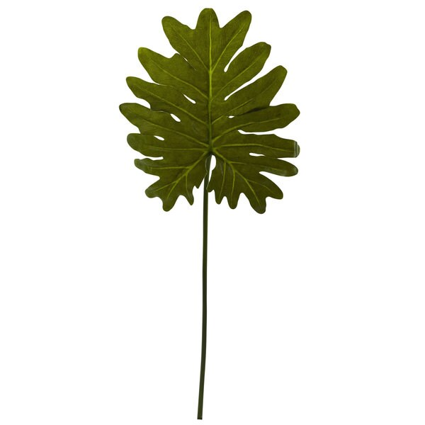 Nearly Natural Selloum Philo Single Leaf Stem (Set of 12)