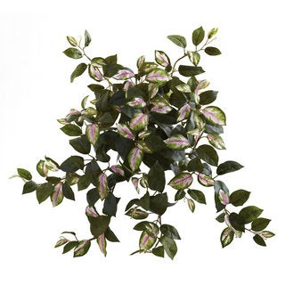 Nearly Natural Multicolored 21-inch Artificial Hoya Hanging Bush (Set of 4)