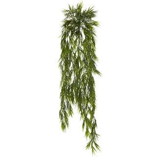 Nearly Natural Faux Mini Bamboo 43-inch Hanging Bush (Set of 2)