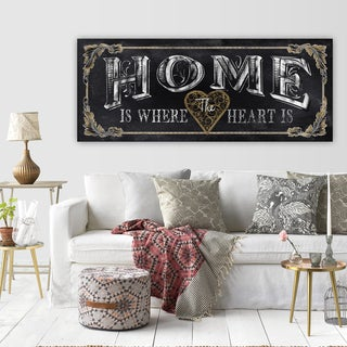 Porch & Den Conrad Knutsen 'Home' Premium Gallery Wrapped Canvas Art
