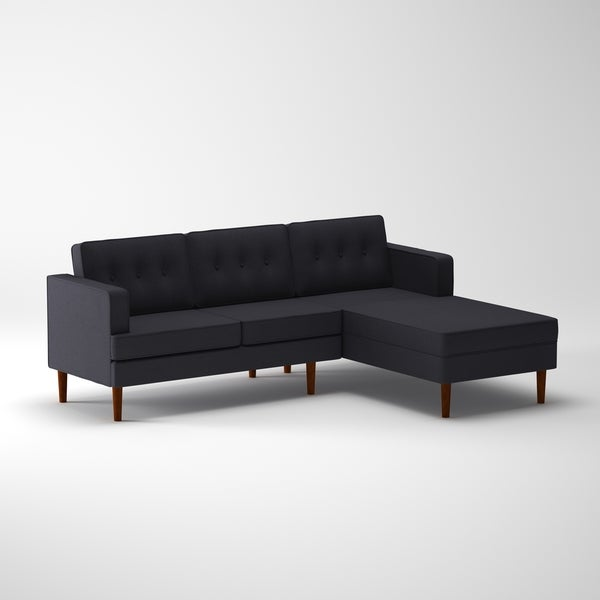 DG Casa Danbury Mid Century Grey Sectional Sofa   Free Shipping Today    Overstock.com   20889707
